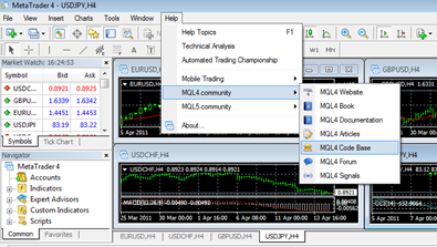 MetaTrader 4 window